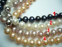 8-9mm Semi-Round Fresh Water Pearl Necklace 18""