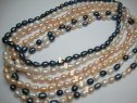 7-8mm Rice Shape Fresh Water Pearl Necklace 18""