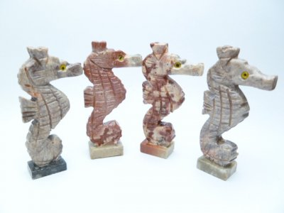 2'' Assorted Seahorse Stone Carving Figurines