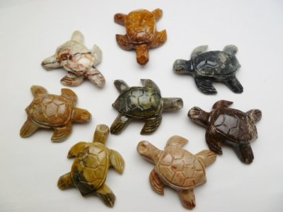 "1.75""x1.5"" Stone Turtle Carving Figurines ​"
