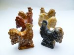"1.5"" Stone Rooster Carving Figurines"