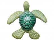 "4"" Green Ceramic Turtle-Made in Hawaii"