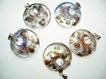 925 Silver Murano 40mm Glass Pendant