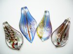 925 Silver Murano 50mm Glass Pendant