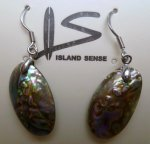 Genuine Abalone Shell Earring with 925 Silver Hook
