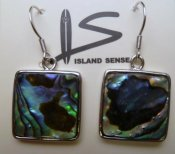 Abalone Square Earring with 925 Silver Hook