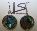 Abalone Round Earring with 925 Silver Hook
