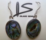 Abalone Oval Earring with 925 Silver Hook
