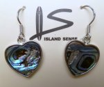 Abalone Heart Earring with 925 Silver Hook