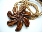 Natural Koa Wood Tiare with Adjustable Brown Cord