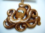 Natural Koa Wood Octopus with Adjustable Brown Cord