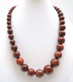 Sponge Coral Graduated Ball Beads Necklace 18""