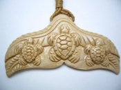 Historical Mammoth Ivory Fish Hook Carved w/Turle in Brown Cord