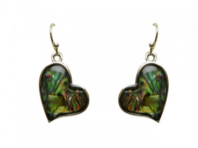 Paua Shell Heart Shape Earring