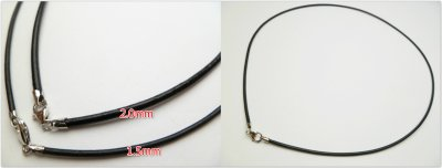 2.0mm Black Genuine Greece Leather with 925 Silver