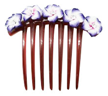 Fimo Flower w/ CZ Hair Comb